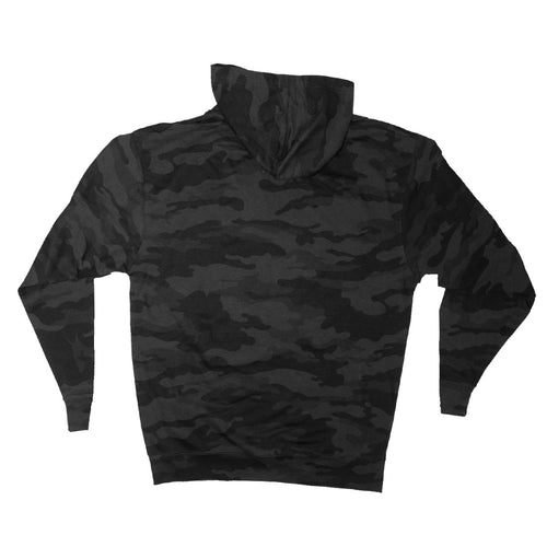 STORM MENS HEAVYWEIGHT PULLOVER HOODIE IN BLACK CAMO