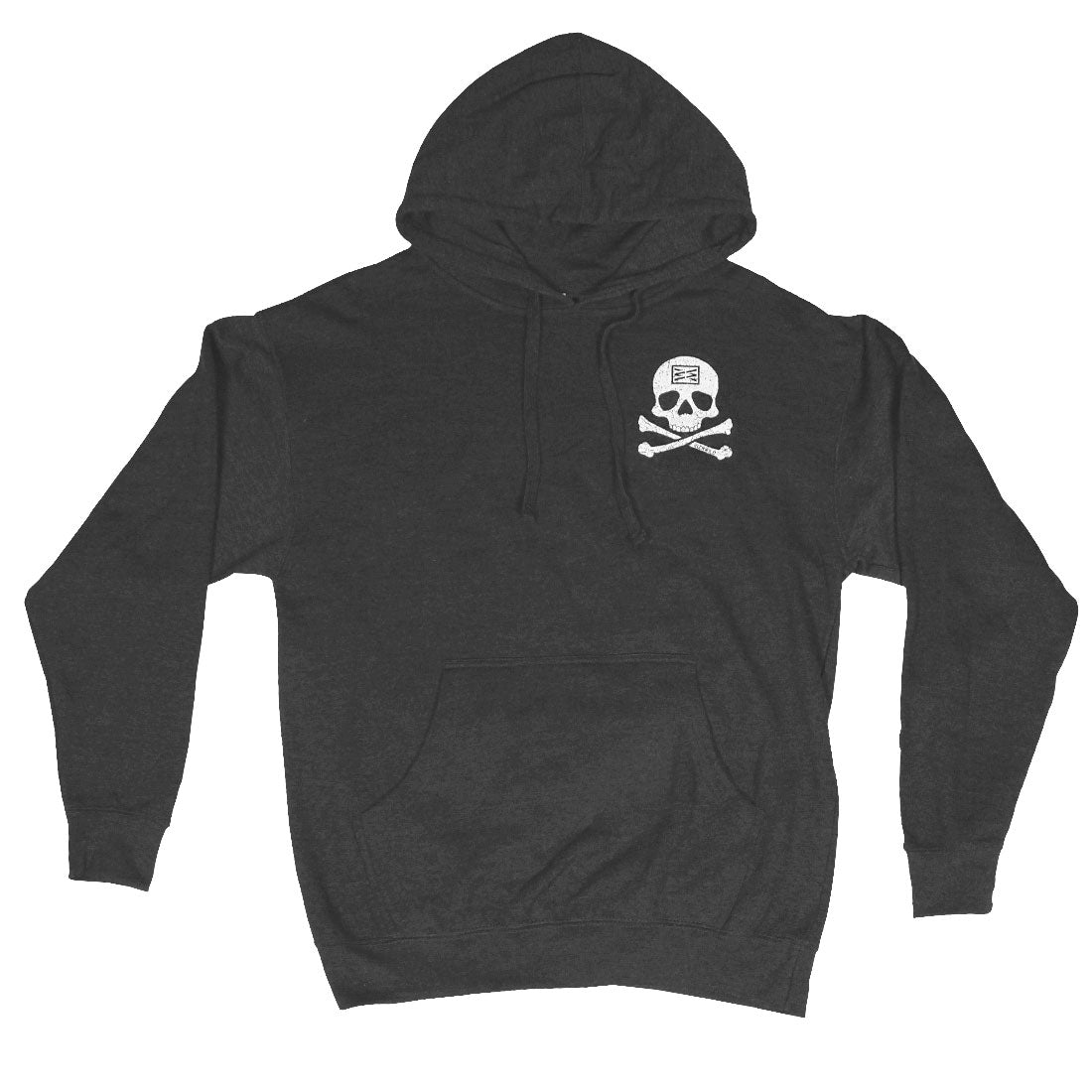 Jolly Roger Mens Midweight Pullover Sweatshirt in Charcoal Heather