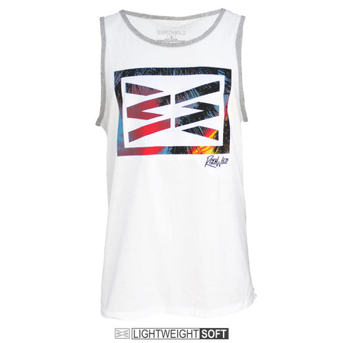 RIZNWILD | Island vibes men's tank with palm tree leafs