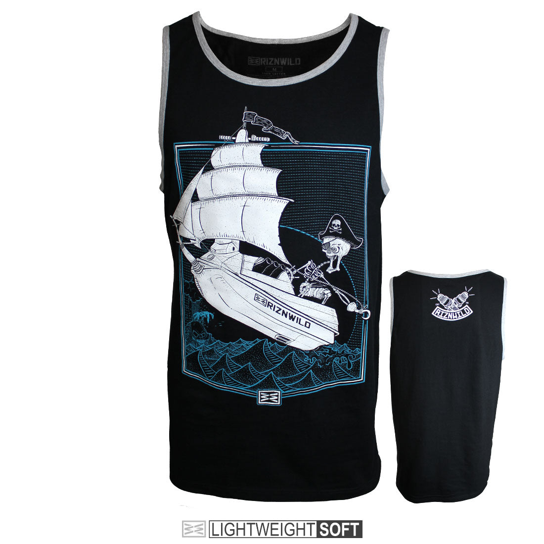 RIZNWILD | Men's tank top black soft jet ski design