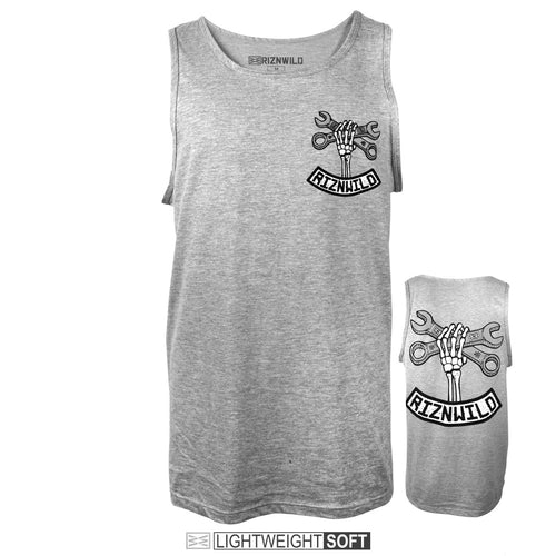 RIZNWILD | Wrench design men's tank top athletic heather