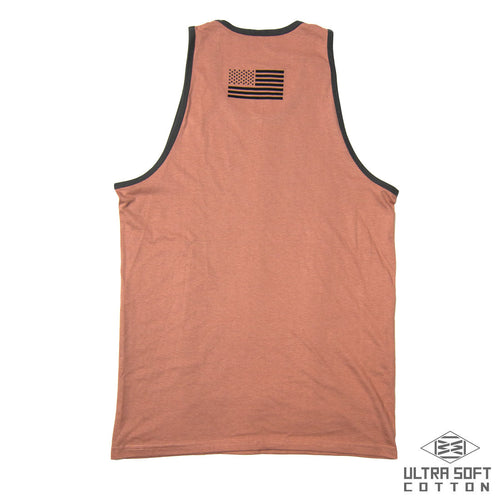 TANKABAGO MEN'S ULTRA SOFT TANK IN DUSTY ROSE/COOL GREY