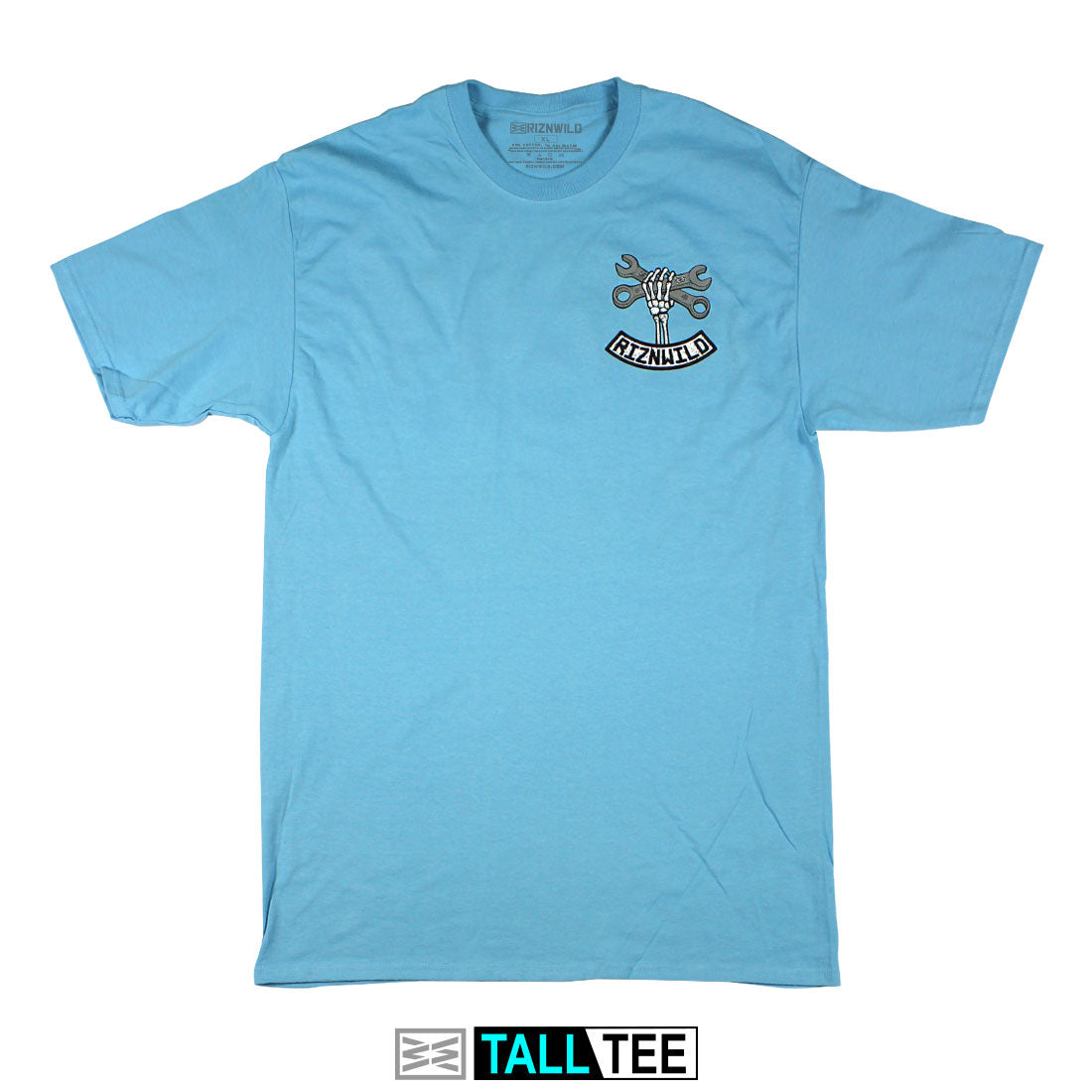 Wrench Twist Mens Tall Tee in Aquatic Blue