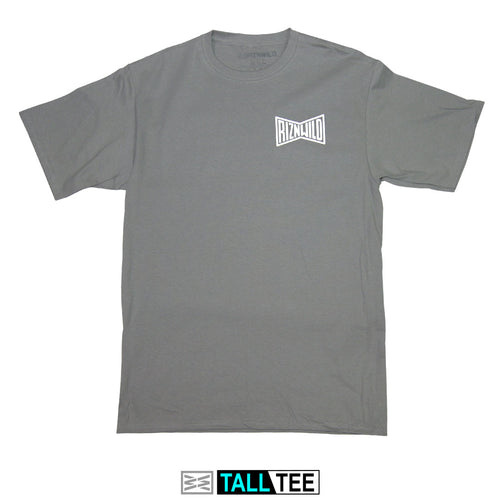 Mens Tall Tee in Medium Grey - RIZNWILD