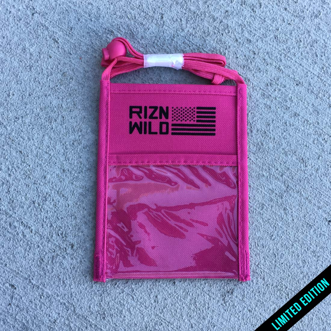 RIZNWILD | Limited edition hot pink badge holder