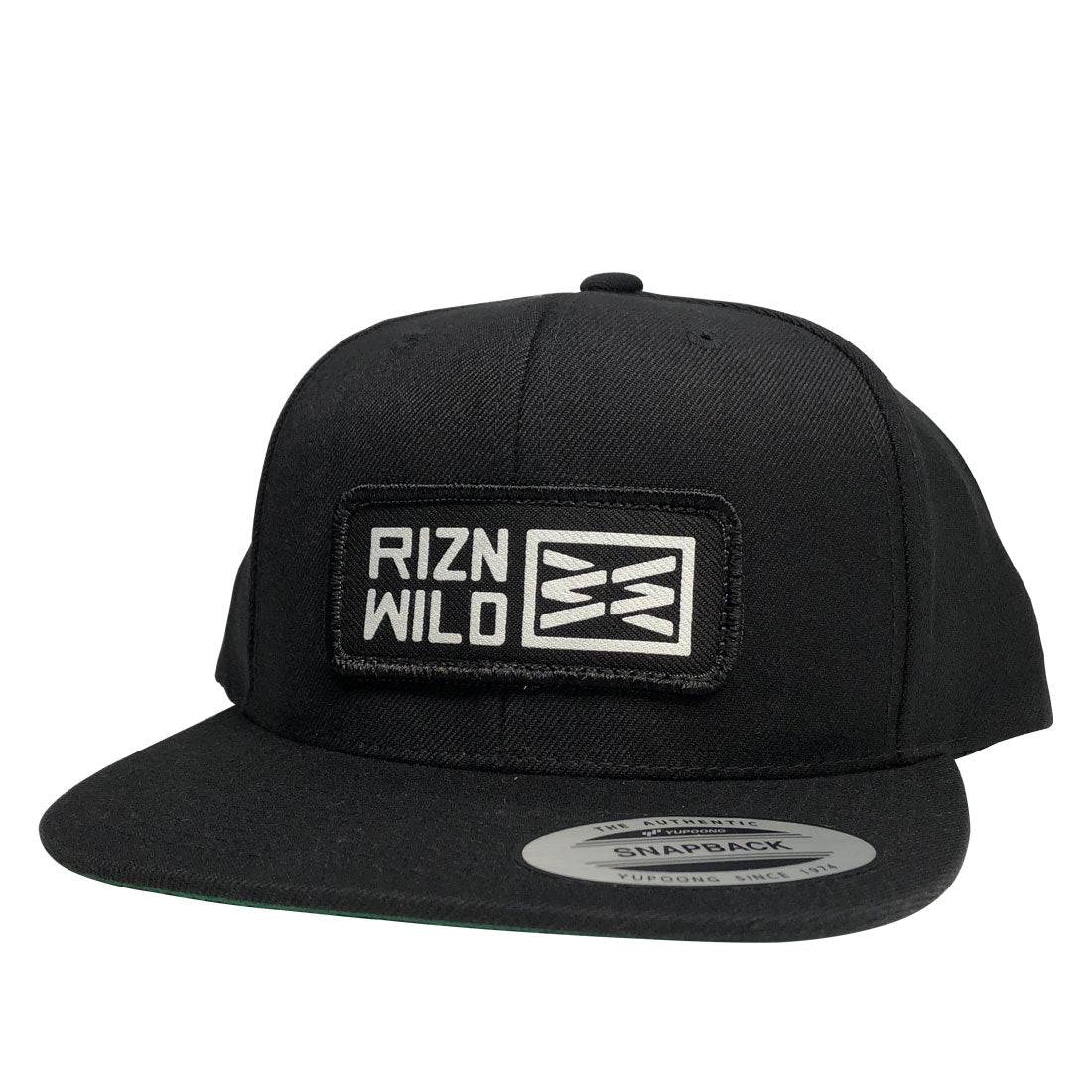 RIZNWILD | Black flex fit snap back hat