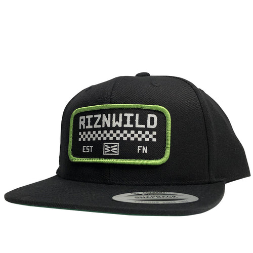 RIZNWILD | Champion checked flag snapback hat