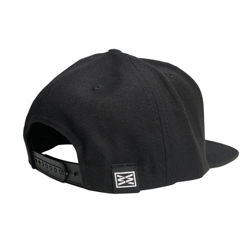 RIZNWILD | Black snapback hat back view