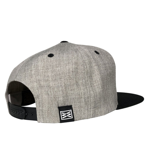 Vintage Flexfit Snapback hat in Heather-Black