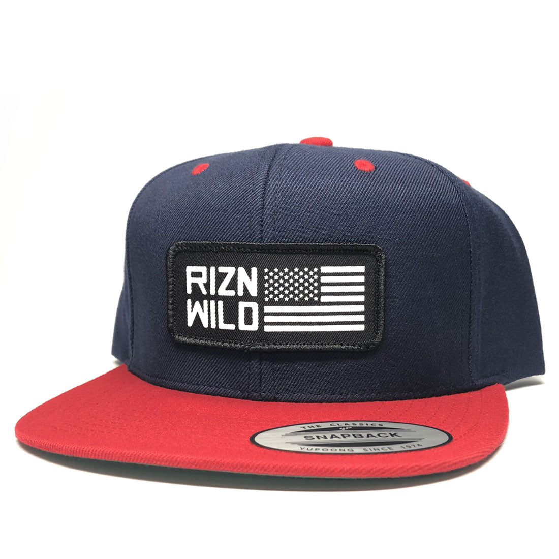 43aae684880ce Liberty Flexfit Snapback Hat in Navy Red – RIZNWILD