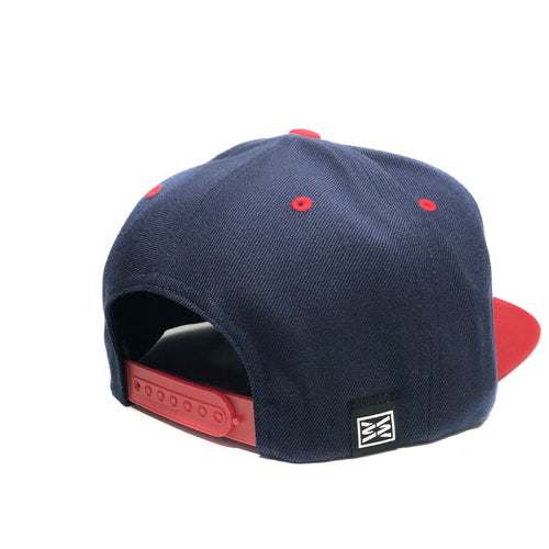 Liberty Flexfit Snapback Hat in Navy Red