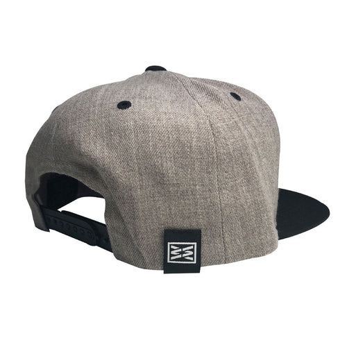 Champion Flexfit Snapback Hat in Heather Black