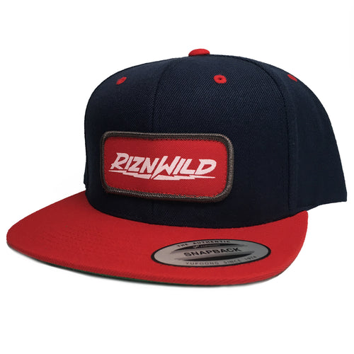 RIZNWILD | Flex snapback hat in Navy/Red