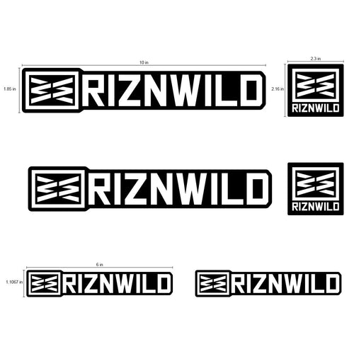 RIZNWILD | Wild 6 pack sticker pack black and white