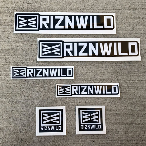 RIZNWILD | Made in the USA sticker pack contour cut