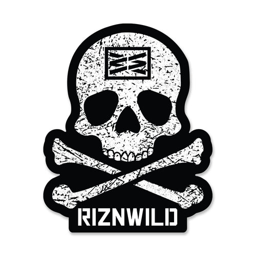 12 Inch RIZNWILD Jolly Roger Sticker