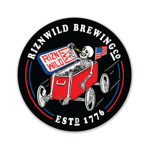 RIZNWILD Brew Racer Sticker
