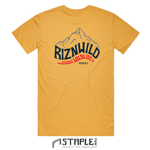 ROCKIES MENS STAPLE TEE IN MUSTARD
