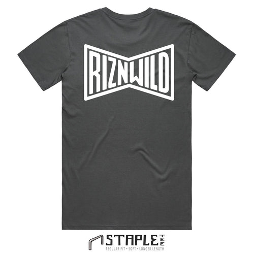 VINTAGE MENS STAPLE TEE IN CHARCOAL