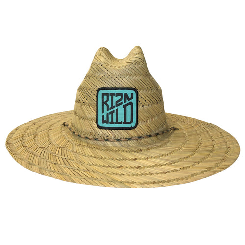 Cased Straw Hat in Teal
