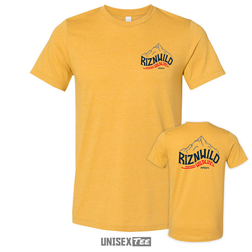 ROCKIES UNISEX JERSEY WOMENS TEE IN HEATHER MUSTARD