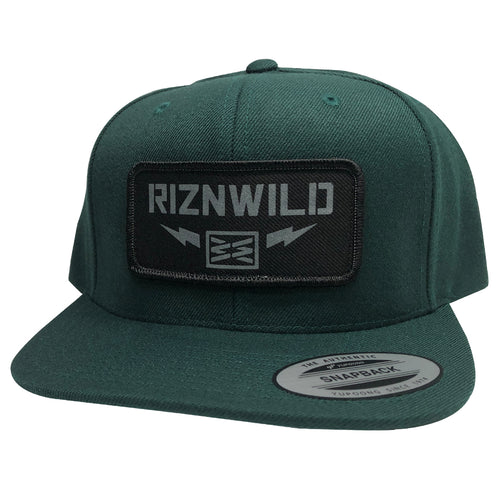 RIZNWILD | flexfit snapack hat forest green