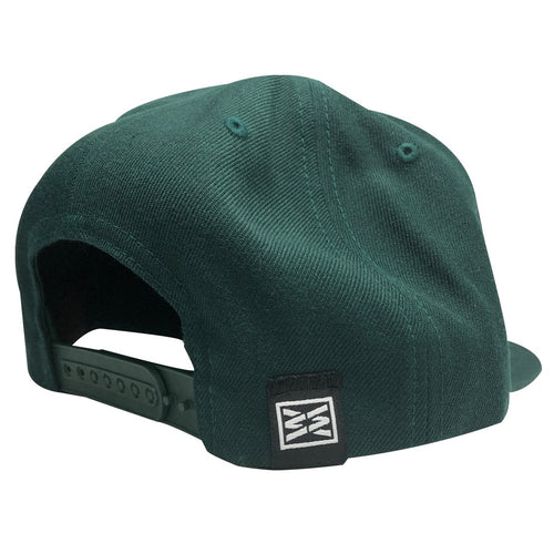 RIZNWILD | SNAPBACK HAT Spruce color back view