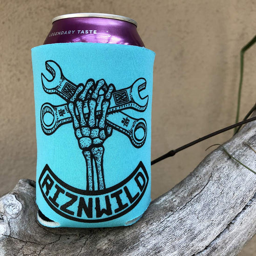 Wrench Twist Koozie in Turquoise