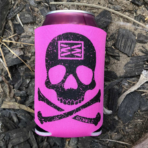 Bones Koozie in Hot Pink