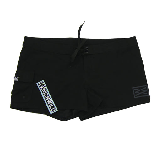 Shorty womens boardshort in black front