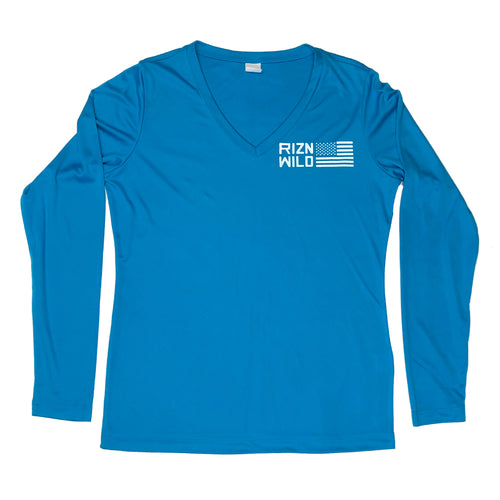 Glory womens moisture-wicking v-neck long sleeve