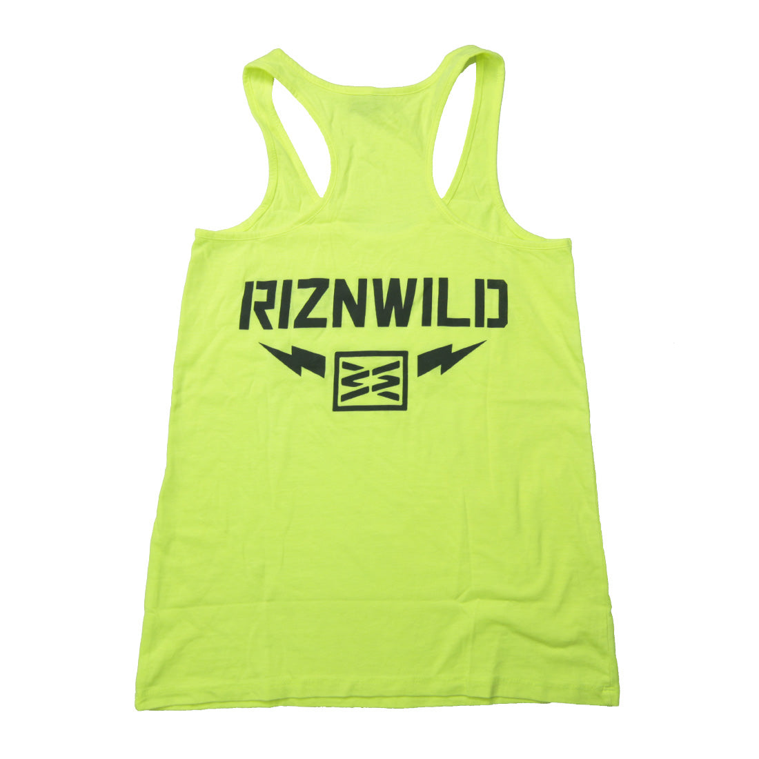 Thunder womens racerback tank in neon yellow