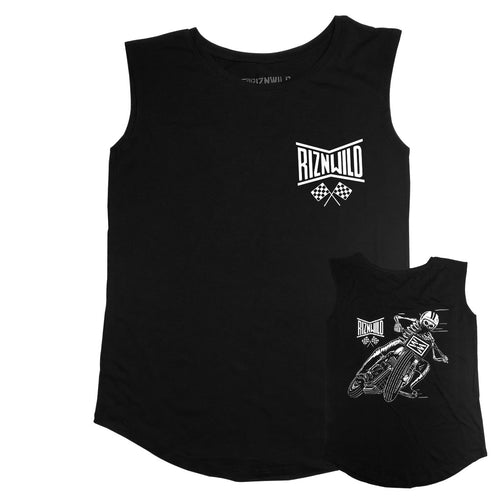 TRACKER WOMENS MODAL SLEEVELESS TANK IN BLACK