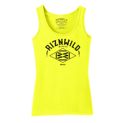 VENTURE WOMENS TANK IN NEON YELLOW