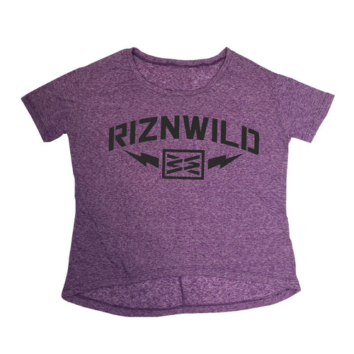 STORM WOMENS HI-LOW TEE IN PURPLE