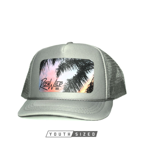 RIZNWILD | cool youth kids hats with palm tree logo