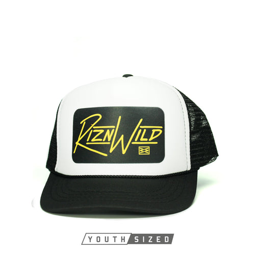 RIZNWILD | rad youth curved bill black and white trucker hats for sale