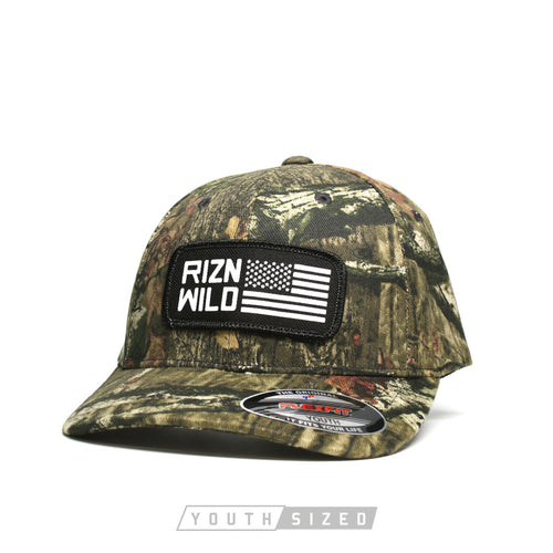 Liberty Youth Flexfit Mossy Oak Curved Bill Trucker Hat