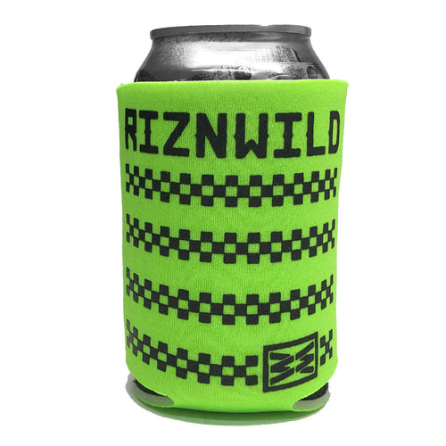 RIZNWILD | Champion checkered design koozie neon green black