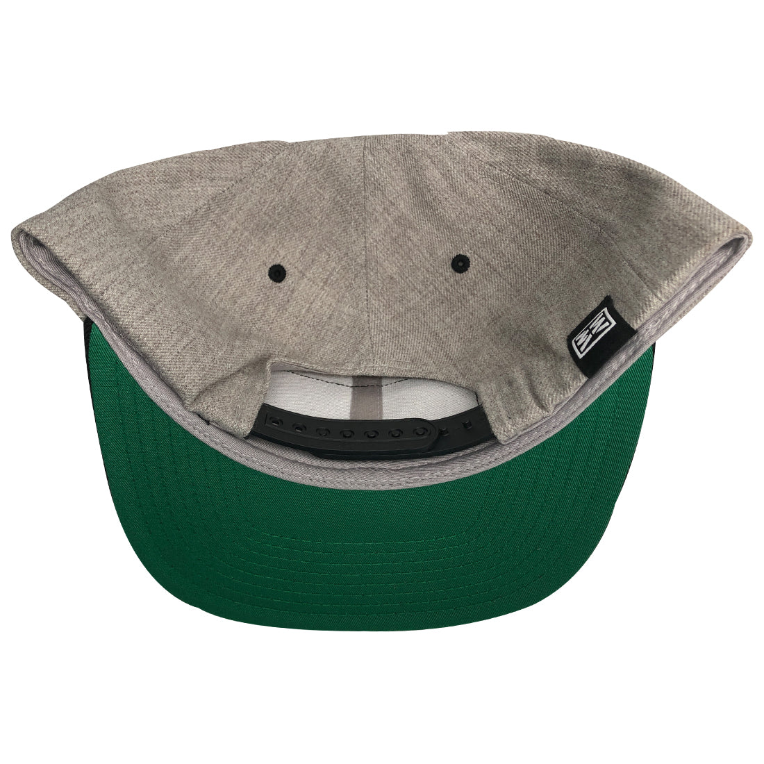 RIZNWILD | green Under-visor view heather black cap