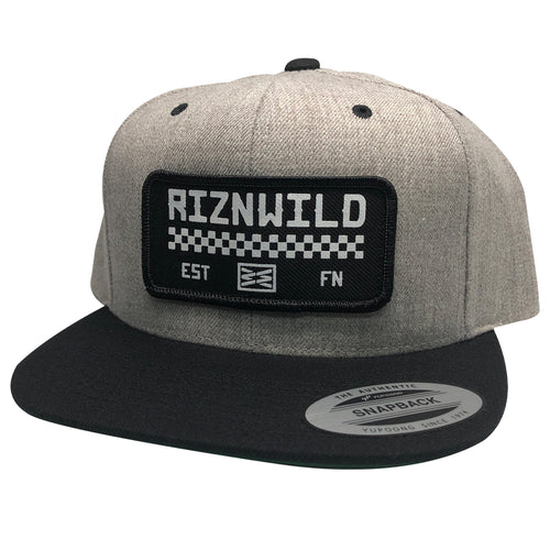 RIZNWILD | Checkered logo snapback hat