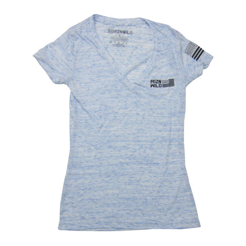 RIZNWILD | Girls blue v neck flight american flag