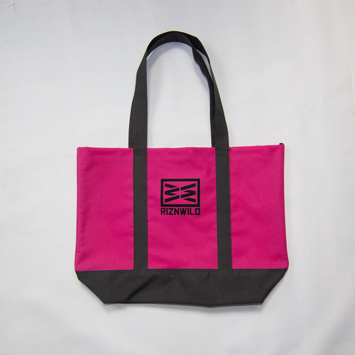 Basic Day Tote Bag in Tropical Pink/ Dark Charcoal