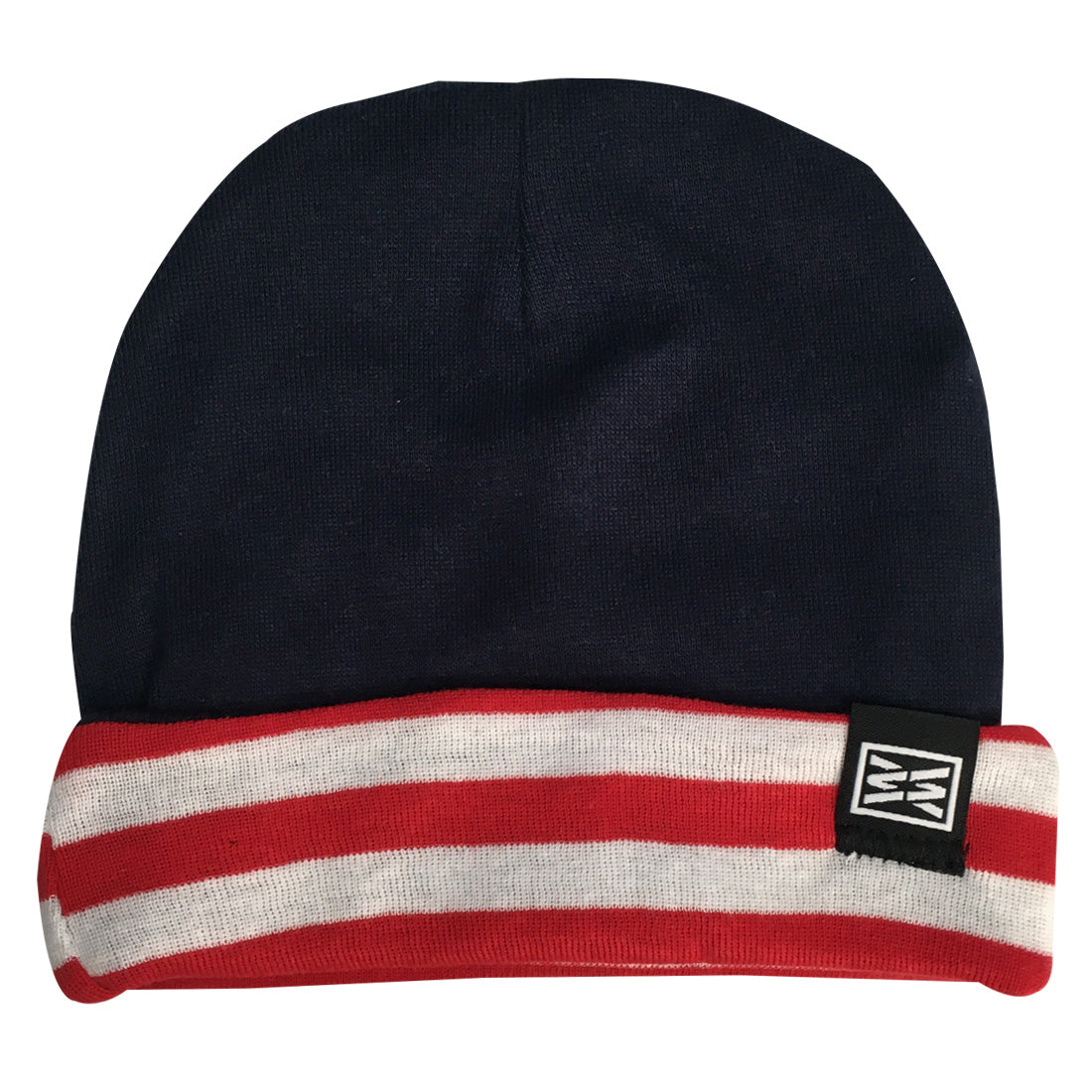 RIZNWILD | red white and blue baby beanies