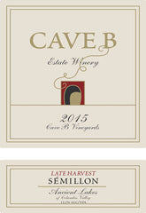 2015 Cave B Late Harvest Semillon