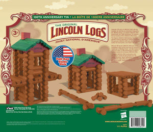 Lincoln Logs 100th Anniversary Tin Building Set