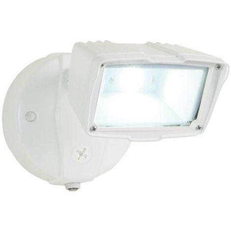 All Pro White Small Dusk-to-Dawn LED Floodlight