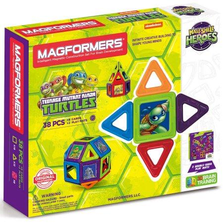 MAGFORMERS Teenage Mutant Ninja Turtles 38-Piece Magnetic Construction Set
