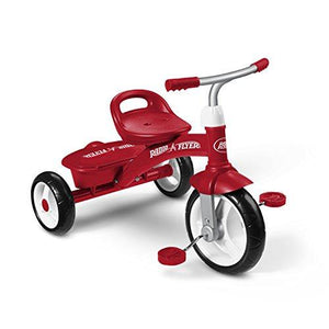 Radio Flyer Fold 2 Go Tricycle, red