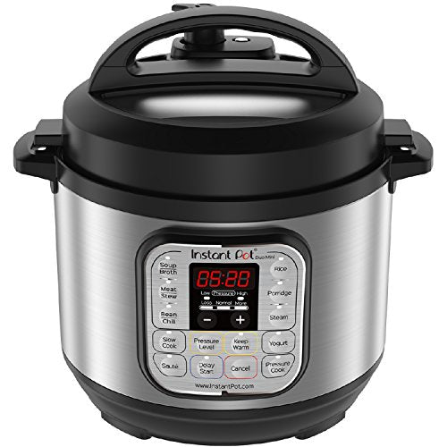 Instant Pot Duo 3 qt Mini Pressure Cooker, Silver